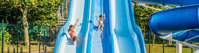 Camping bassin d 39 arcachon avec parc aquatique piscine for Camping a arcachon avec piscine