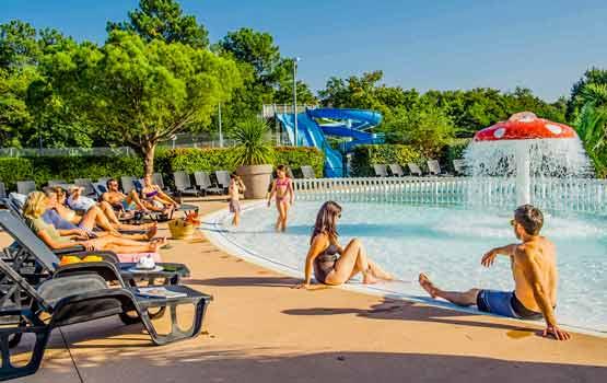 Camping avec piscine en Gironde