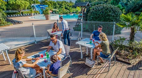 camping restaurant sea green arcachon