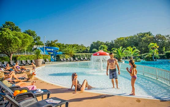 location camping sea green piscine arachon