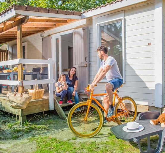 location chalet 2 chambres camping arcachon