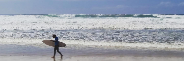 surfer à Arcachon